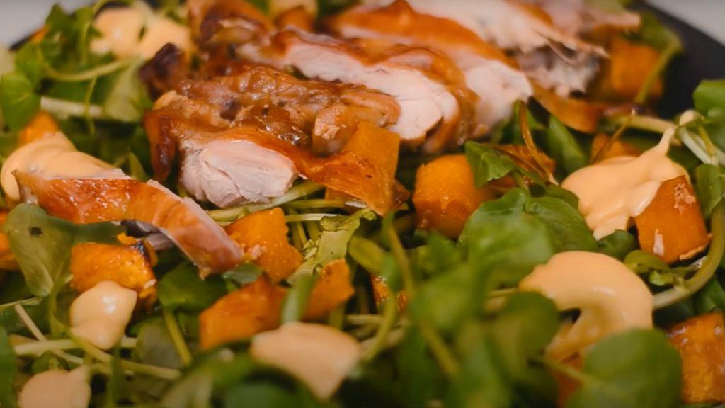 Receita de Salada de Frango com Agrião