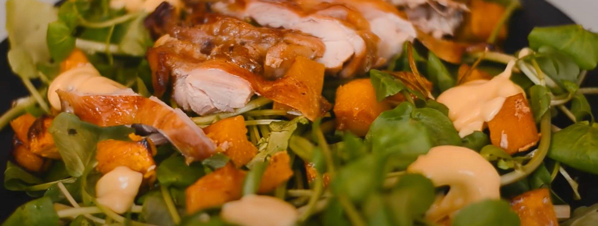 Salada de Frango e Agrião