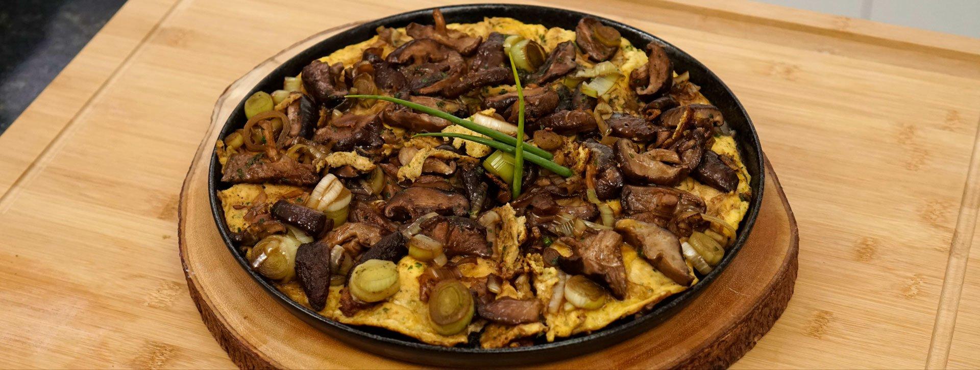 Omelete de Shitake