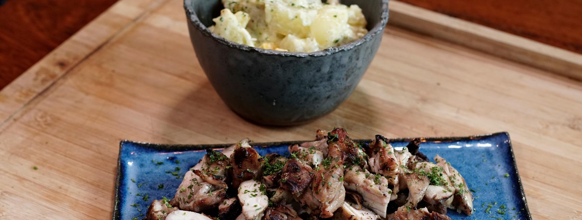 Churrasco Fácil com Maionese de Batatas