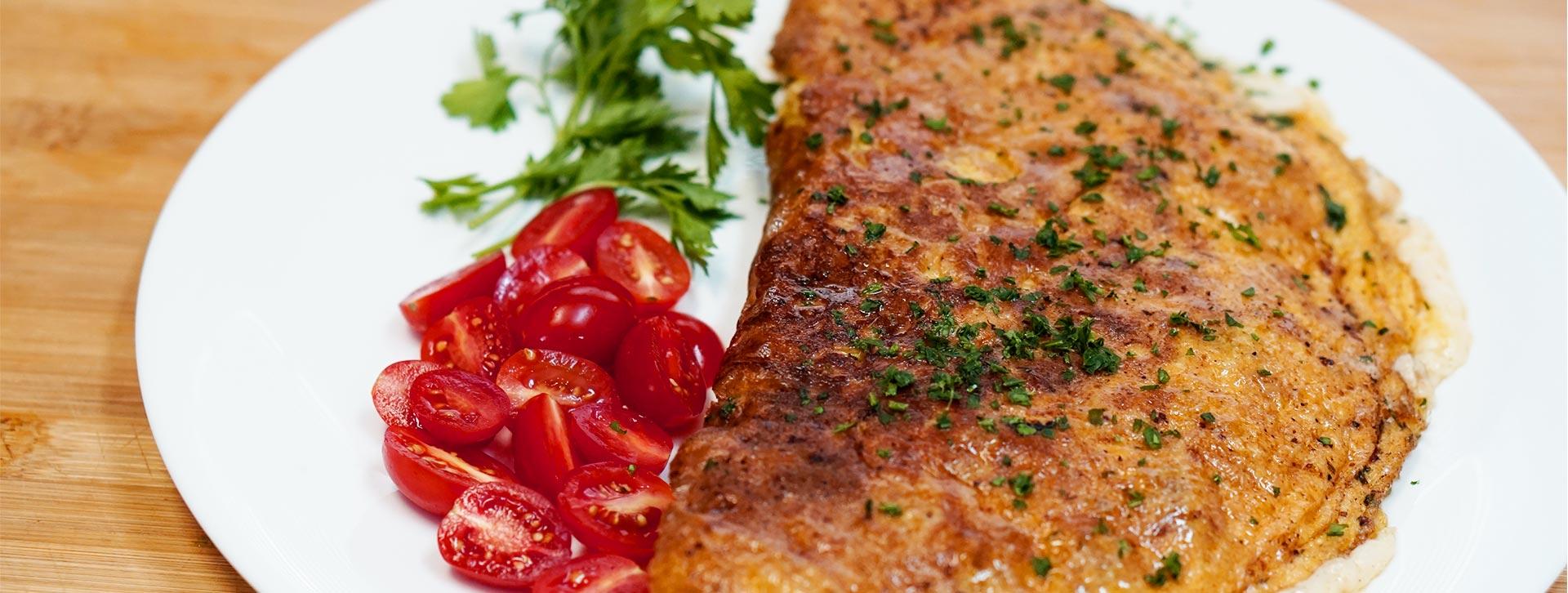 Omelete de Coração de Frango e Provolone